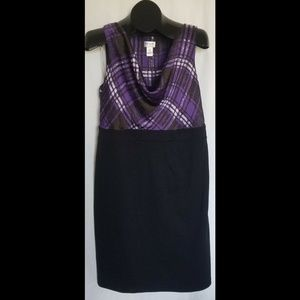 MOTHERHOOD MATERNITY M Black Purple Dress